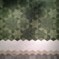 The first hexagon tiles at the Salone del Mobile Milan - geometric floor Hexagon Tiles, Mosaic Tiles, Wall Tiles, Tiling, Geometric Tiles, Hex Tile, Cork Tiles, Floor Patterns, Wall Patterns
