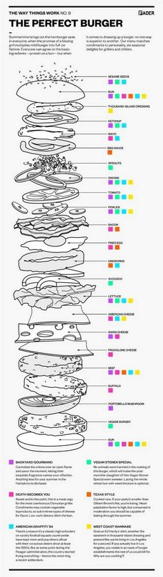 Perfect burger infography