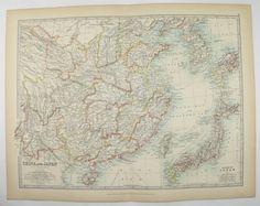 China map malaysia korea map vietnam 1899 japan taiwan map vintage china map japan korea map taiwan 1905 johnston map antique map china gumiabroncs Images