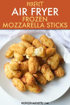 Heating frozen mozzarella sticks in air fryer is easy to do and makes an easy after school snack or party appetizer or brunch treat. Go from frozen to melty, gooey, stretchy cheese in about 6 minutes. Dip in marinara out your favorite choice of dipping sauce. Click through to get this awesome Air Fryer Frozen Mozzarella Sticks recipe. #airfryer #airfried #mozzarellasticks #cheesesticks #frozenfood #airfryerappetizer #airfryercheesesticks Mozzarella Sticks Recipe, Appetizers For Party, Appetizer Recipes, Snack Recipes, Snacks, Cheese Recipes, Easy Recipes, Air Fryer Healthy