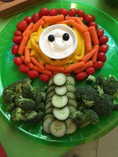 Veggie tray Fire Flower - Super Mario Bros.