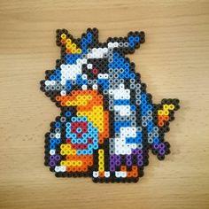 Gabumon Digimon hama beads by Jenny Specht