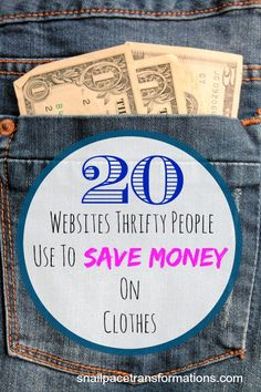 Save money on clothes by using these 20 sites when shopping online..