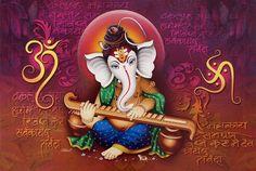 Lord Ganesha / Shree Ganesh / Shri Ganpati / Modern Art Print Poster (Size: 46X30 cm Unframed)