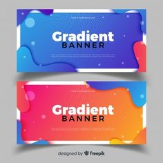 Abstract banners with gradient design Free Vector - can be used for WEB DESIGN Web Design, Web Banner Design, Flyer Design, Layout Design, Banner Vector, Banner Template, Modern Graphic Design, Graphic Design Inspiration, Sale Banner