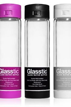 Glasstic - Insulated, shatterproof, glass water bottle
