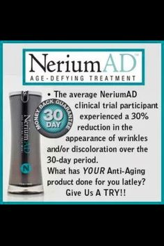 30 Day Money Back Guarantee - Nerium International Skin Care Products www.angiedelrie.nerium.com