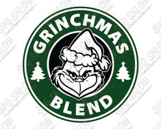 How The Grinch Stole Christmas Starbucks Logo Grinchmas Blend Cut SVG File Set Christmas Vinyl, Grinch Stole Christmas, Christmas Projects, Xmas, Christmas Decor, Christmas Ideas, Grinch Cricut, Grinch Face Svg, Stickers