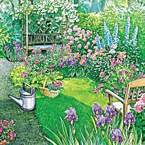 Discover recipes, home ideas, style inspiration and other ideas to try. Perennial Garden Plans, Dream Garden, Flower Beds, Garden Planning, Garden Plants, Perennials, Stepping Stones, Garden Design, Golf Courses