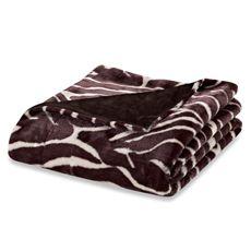 Zebra Faux-Fur Oversized Reversible Throw Blanket - Bed Bath & Beyond