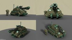 Yet another little test piece in MagicaVoxel. No, it's not supposed to be a specific (real) tank. No, I didn't use references. No, it's not going to be used in a game or something