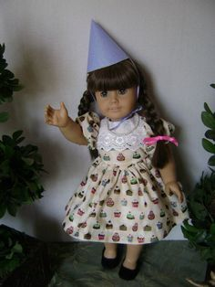 It's My Party 18 Inch Doll Dress Party Hat and by gofancynancy, $29.99