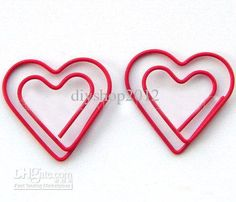 Wholesale cheap clip online - Find best 200pcs/lot double heart shaped paper clip/Creative bookmark gift 30 x 30mm at discount prices from Chinese filing supplies supplier on DHgate.com.