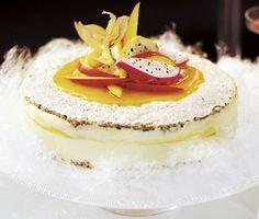 Frozen Hazelnut and Mango Cake (gluten free) / Frusen nötbiskvi- och mangotårta (glutenfri)