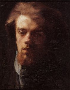 Self Portrait, 1860 by Henri Fantin-Latour. Realism. self-portrait. Private Collection