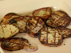 Grilled Red Potatoes and Onions Recipe : Anne Burrell : Food Network Grilled Potato Recipes, Grilled Red Potatoes, Red Potato Recipes, Onion Recipes, Grilled Chicken, Grilled Vegetables, Best Side Dishes, Side Dish Recipes, My Burger