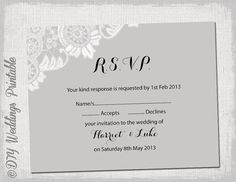Rustic DIY Wedding RSVP Unique rsvp wording Tag cheap inexpensive