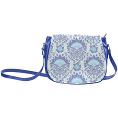 Beautiful Vintage Floral Pattern Classic Saddle Bag/Large (Model 1648)