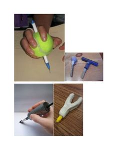 Good idea for arts and crafts to adapt for people with limited fine motor skills! add something thicker on the utensil for the individual to grip more easily