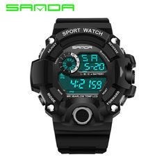 New Fashion Men's Sport Watch G LED electronic digital electronic watches casual watches military watches waterproof shock #Affiliate