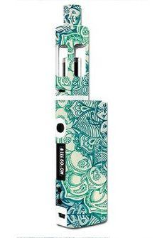 Skin Decal Vinyl Wrap for Kanger Tech Subbox Mini Vape Mod Box / Teal Green Mandala Pattern