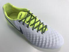 091a3c39047a SR4U Black/Neon Yellow Chevron Soccer Laces on Nike Magista Opus 2 Motion  Blur Pack
