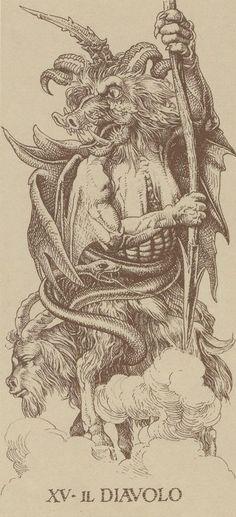 Arcane XV : Le Diable - Le Tarot d'Albrecht Dürer                                                                                                                                                                                 More