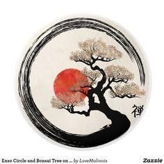 Enso Circle and Bonsai Tree on canvas ceramic button 606789749779479336 - Bonsa . - Enso Circle and Bonsai Tree on canvas ceramic button 606789749779479336 – Bonsai cultivation - Japanese Tattoo Designs, Japanese Tattoo Art, Japan Tattoo Design, Design Tattoos, Bonsai Tree Tattoos, Yin Yang Art, Kunst Tattoos, Crow Tattoos, Phoenix Tattoos
