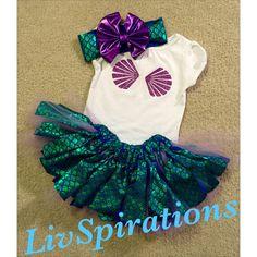 Cumpleaños de la sirena sirena poco por LivSpirations en Etsy