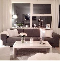 white & grey sofa