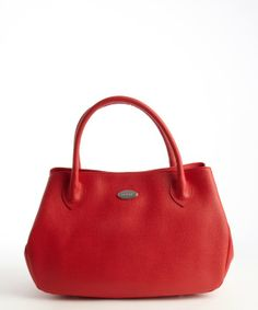 Furla red flame leather 'New Giselle' tote