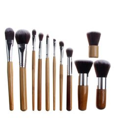 11-Piece Bamboo Professional Make-Up Brush Set