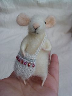 Fairy Mice Tooth with bag for the little tooth  by feltingdreams, $45.00