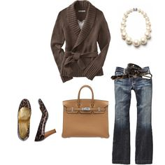 Winter Clothes - Brown sweater