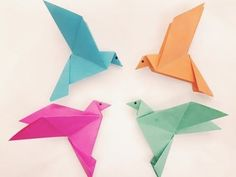 Origami dove: how to make an origami dove! My free Origami (Paper Folding) person video-course! Origami Bird Easy, Easy Origami Dragon, Origami Dove, Origami Lily, Origami Paper Folding, Kids Origami, Useful Origami, Origami Flowers, Origami Art