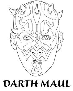 Lego Star Wars Coloring Pages Darth Maul
