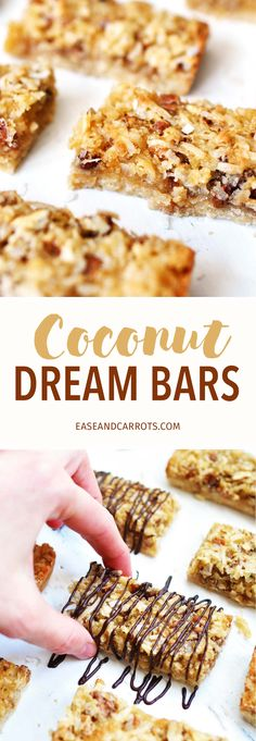 Coconut Dream Bars Recipe. A delicious, soft and chewy, coconut cookie bar that is quick and easy to make, and even easier to eat!