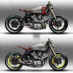 Saint motorcycle praies for us! - The History of Café Racers - Cafe Racer TV Motor Cafe Racer, Yamaha Cafe Racer, Virago Cafe Racer, Motos Yamaha, Honda Cb750, Cafe Bike, Yamaha Virago, Ducati, Cafe Racer Motorcycle