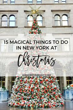 15 Magical Things to Do in New York at Christmas - Travel tips - Travel tour - travel ideas New York City Christmas, Christmas Travel, Holiday Travel, Christmas Christmas, Christmas Markets, Christmas Vacation, Christmas Breaks, Christmas Trips, Europe Christmas