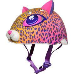 C-Preme Raskullz Cutie Cat Mask Child Helmet, Multicolor Skateboard Helmet, Kids Helmets, Christmas Gift List, Cat Mask, Little Kitty, Helmet Design, Family Kids, Big Eyes, Cheetah Print