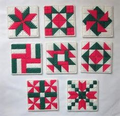 Image result for plastic canvas christmas coasters free patterns