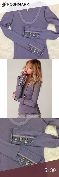 Free People Purple Mamba Motor Cuff Thermal RARE Condition: pre-owned. normal wear to fabric. | No trades | No holds | GB9 Free People Tops
