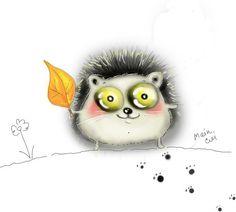 Осеннего милого ежика вам  в ленту  Творчество Jekaterina Cuikova