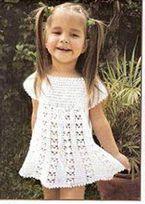 1 of 2 Crochet Knitting Handicraft: dress for girl Crochet Dress Girl, Baby Girl Crochet, Crochet Baby Clothes, Crochet Dresses, Crochet Crafts, Crochet Projects, Knit Crochet, Crochet Toddler, Crochet For Kids