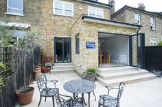 East Dulwich, SE22, Rear Extension on a Victorian Terraced House in East Dulwich, SE22, Greater London, Flat Roof, Open Plan Design, Contemporary Kitchen, Kitchen Extension, Bi-Fold Doors, French Doors, U Shaped Kitchen, Kitchen Extension Ideas, Kitchen Interior, Kitchen Design Ideas, Patio