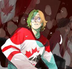 hetalia canada hockey - Google Search