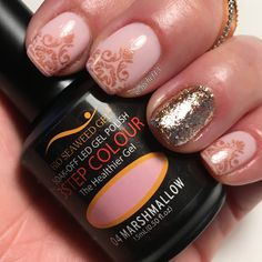 Pink and rose gold gel manicure. See more of my designs on my nail board @jgchef13 or my IG account @jgchef13.