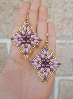 Earrings Damasco - beading pattern