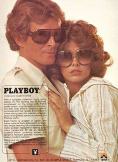 Vintage Playboy Sunglasses: A Touch Of Class Bold Fashion, 70s Fashion, Vintage Fashion, Lauren Hutton, Patti Hansen, 1970s Sunglasses, Mens Sunglasses, Vintage Sunglasses, Vintage Magazines