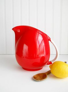 Vintage Chinese Red Hall Pottery Large Pert Pitcher on Etsy, $60.00